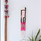 The Pink Path - Ceramic Wall Piece with Embellishments