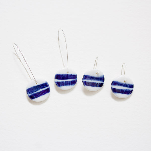 Little Two Stripe Drop Earrings Indigo