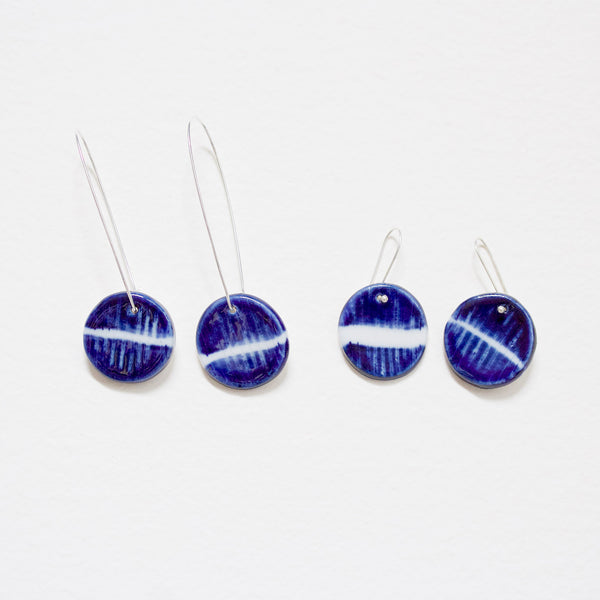 Indigo Moon Little Drop Earrings- Indigo
