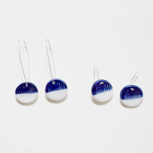Half Moon Little Drop Earrings - Indigo