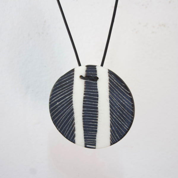 Pendant - Feather BW