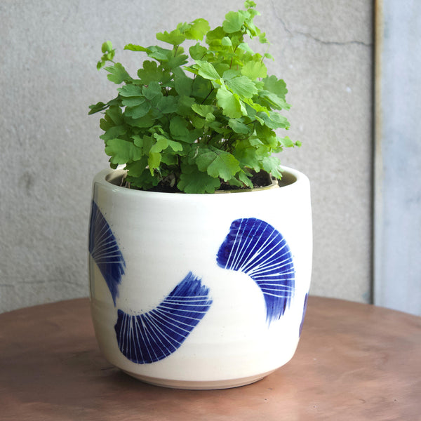 Linear Brush Medium Planter - Indigo