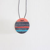 Pendant - Feather Stripe