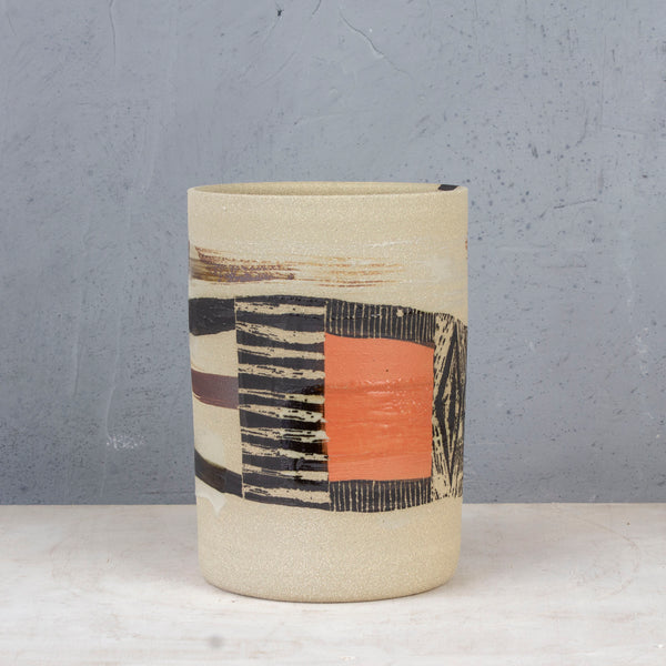 Fork In the Road - Cylindrical Vase