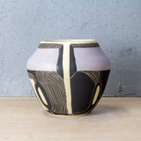 Going In Circles Vessel - Black & Lilac