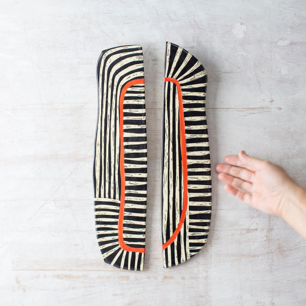 Off the Track - Modular Ceramic Wallpiece