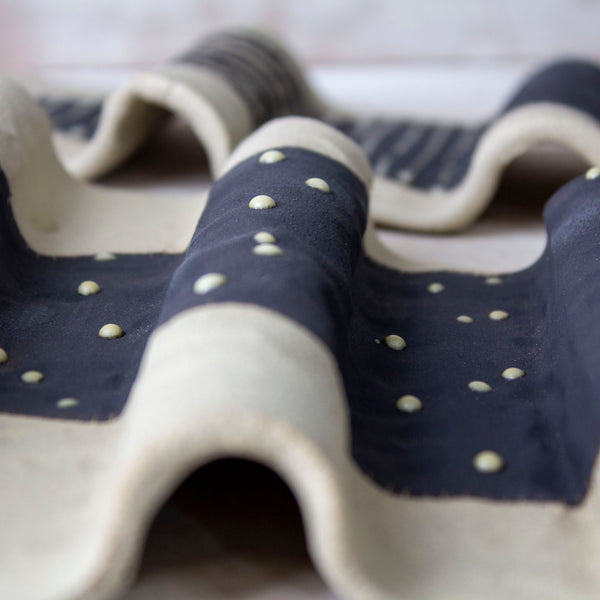 Spotted Pointer - Undulating Ceramic Wall Piece