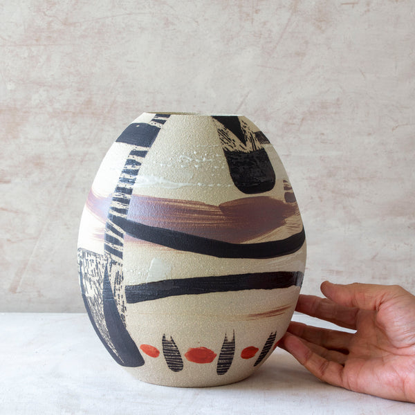 Bird Oval Vessel