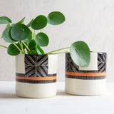 Crossweave Planter - Black & Nasturtium