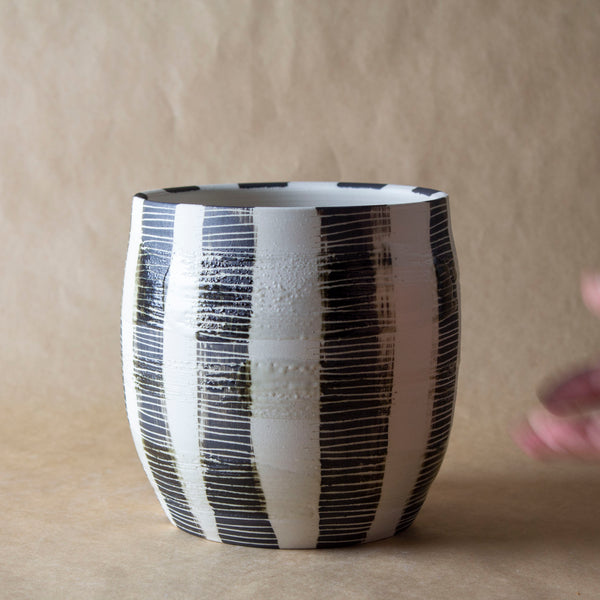 Slip Stripe Vessel - Black
