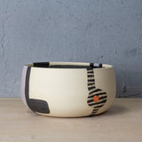 Wrong Way Go Back Vessel - Black, Lilac & Nasturtium