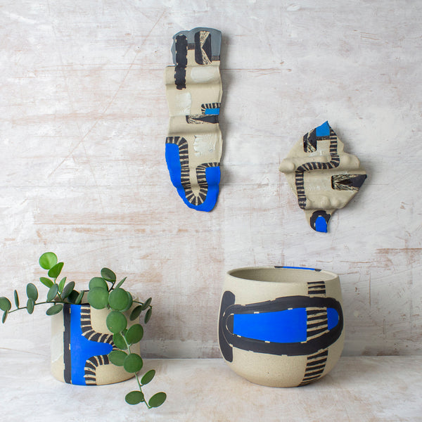 Electric Pathways #2 - Undulating Ceramic Wall Piece