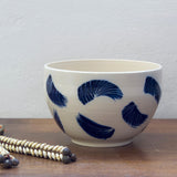Linear Brush Bowl // Planter - Indigo