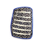 Crosshatch Ceramic Wall Piece // Platter - Electric Blue