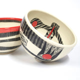 Woven Grafik Large Bowl - Indian Red