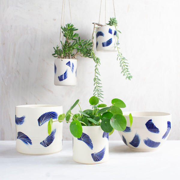 Linear Brush Planter - Indigo