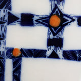 Ceramic wall piece  - 'Indigo Diamond'