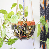 Indigo Spot Leather Planter Hanger