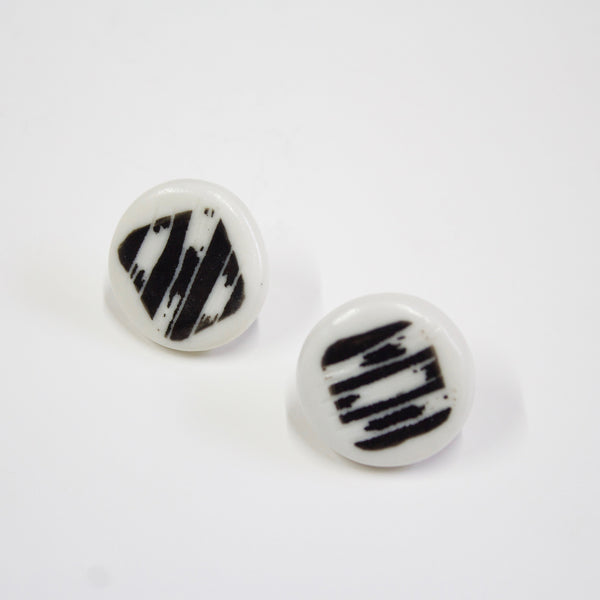 Masked Track Little Studs - Black