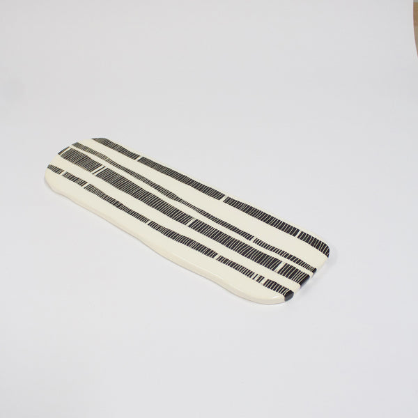 Stripey Road #2 Ceramic Platter