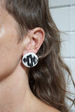 Masked Track Medium Studs - Black