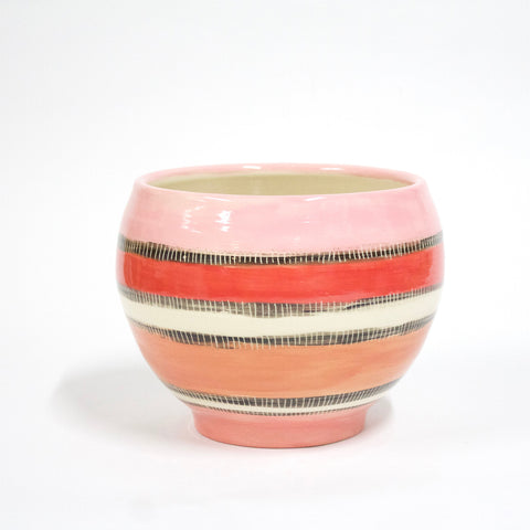 Licorice All Sorts Orb Ceramic Vessel - Galah
