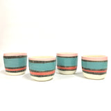Liquorice All Sorts Medium Planter - Black, Lagoon, Coral & Dusty Pink