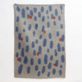 Orange Reflections Tea Towel Art - Indigo & Tangerine
