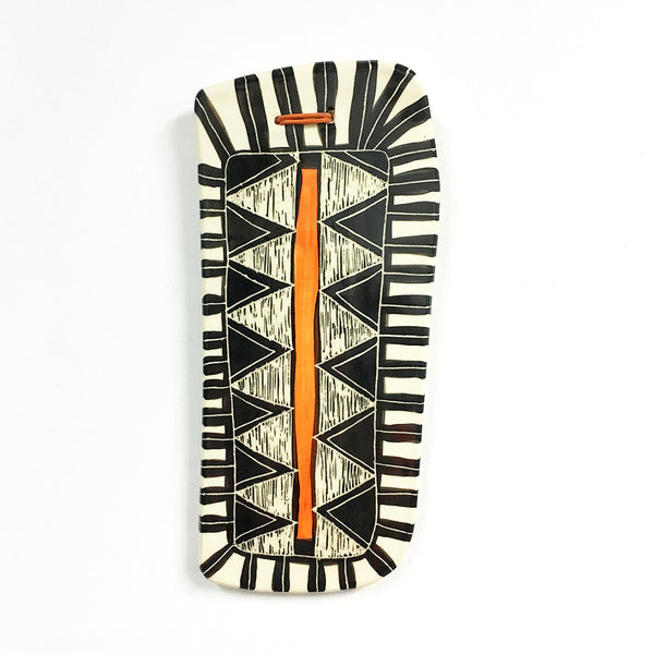 Triangular teeth - Ceramic wall piece