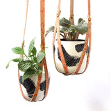 'Peachy Spot' - Leather plant hanger #LPH003