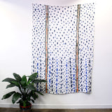 'Raining Indigo' - hand painted linen throw or wallpiece