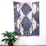 'Double Diamond' - hand painted linen throw or wallpiece