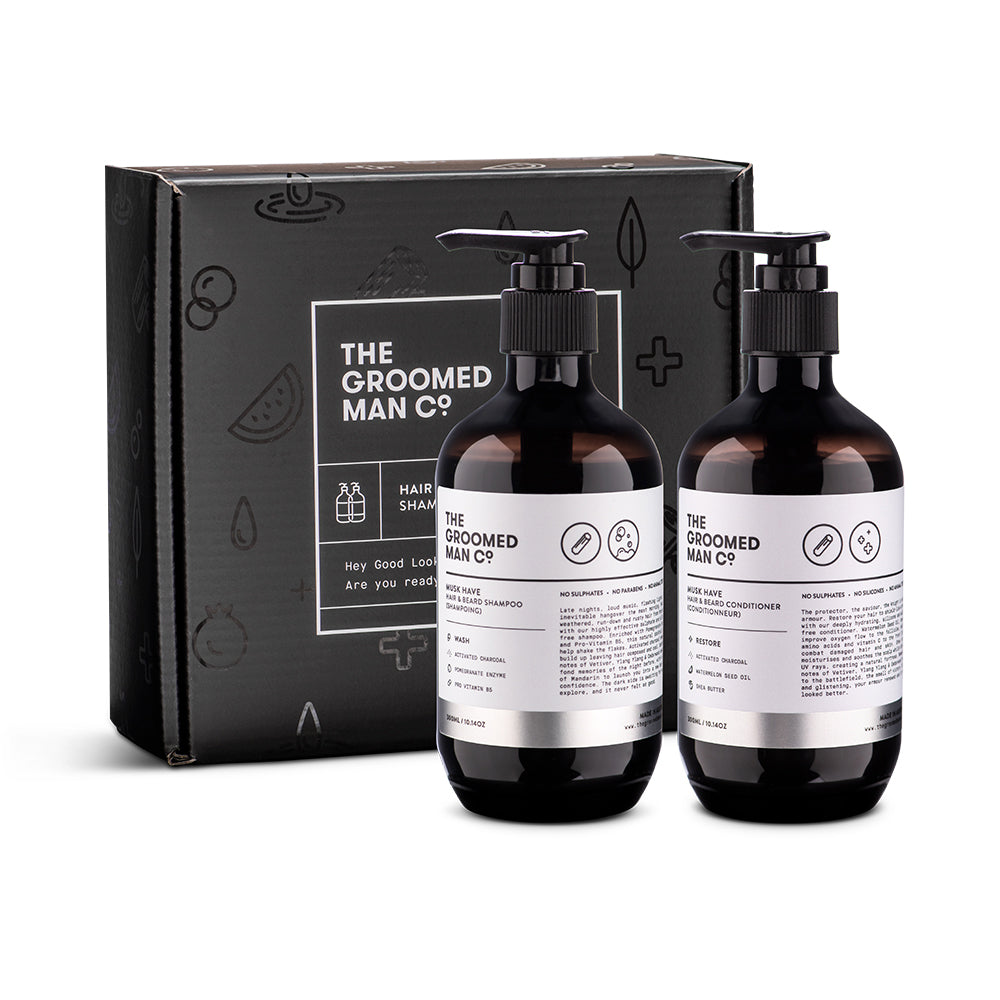 The Groomed Man Co Musk Have Hair and Beard Kit