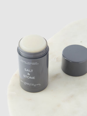 Salt & Stone Natural Deodorant - Vetiver + Sandalwood | 10% off first order | Free express shipping and samples