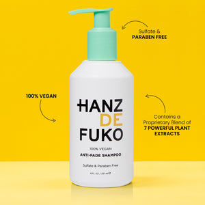 Hanz de Fuko Anti-Fade Shampoo | 10% off first order | Free express shipping and samples