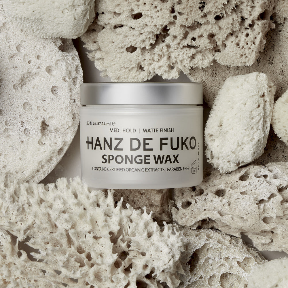 Hanz de Fuko Sponge Wax | 10% off first order | Free express shipping and samples