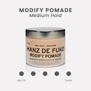 Hanz de Fuko Modify Pomade | 10% off first order | Free express shipping and samples