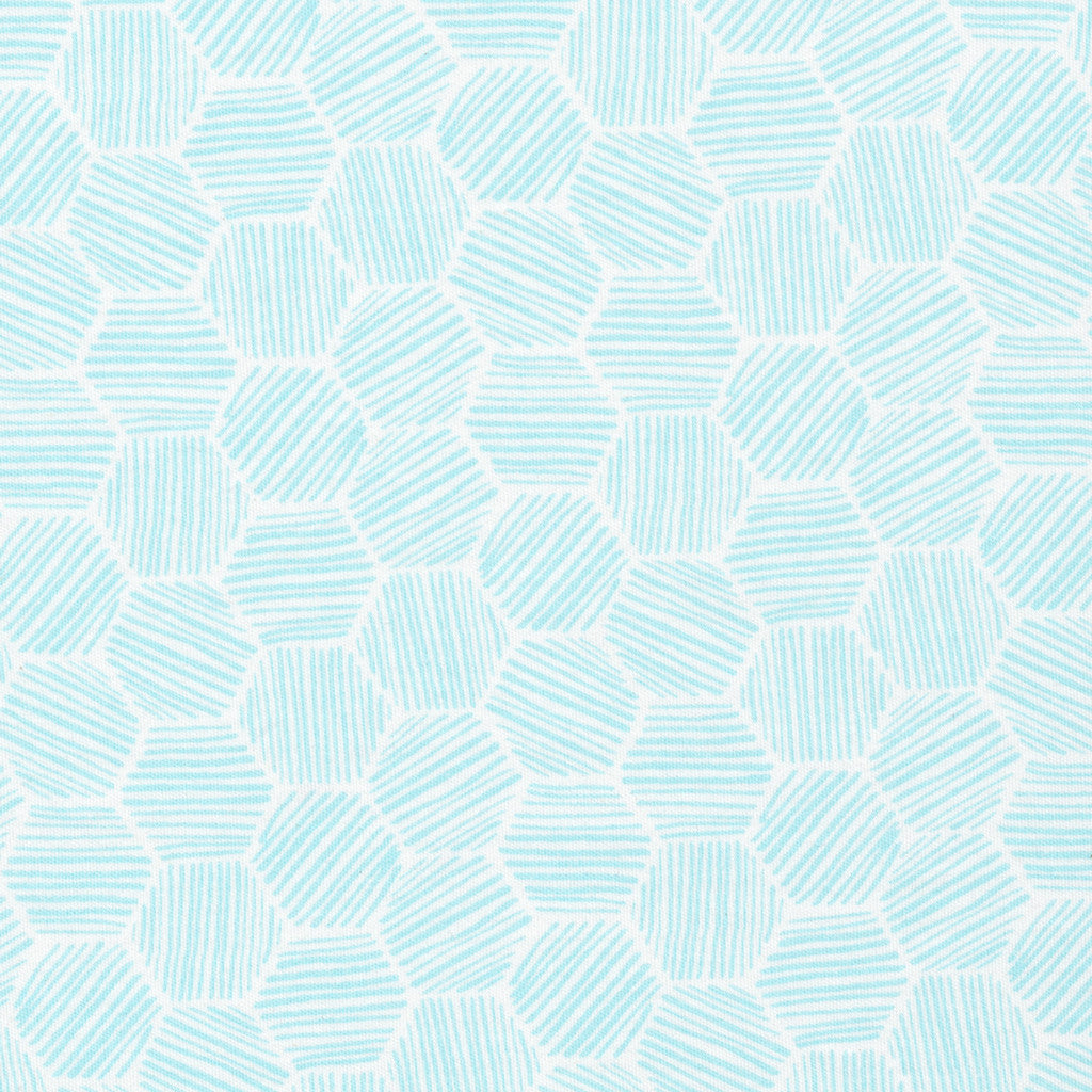 "Hatchmarks Turquoise | KNIT | HALF YARD PRE-CUT (18""X56"")"