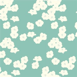 "Poppies Pool Double Gauze | ONE YARD CUT (36""X45"")"