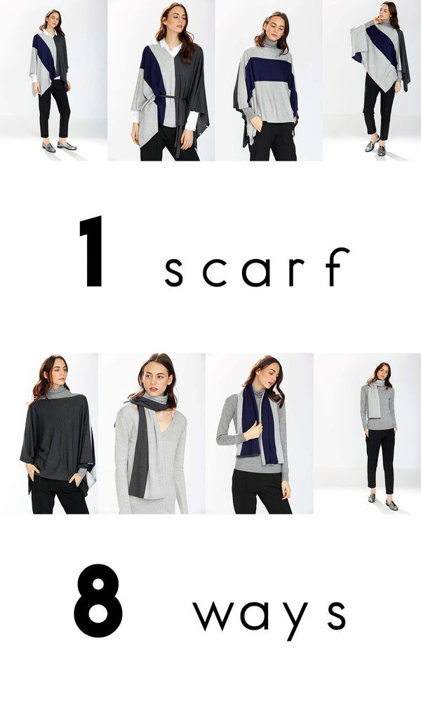 One Scarf Eight Different Ways