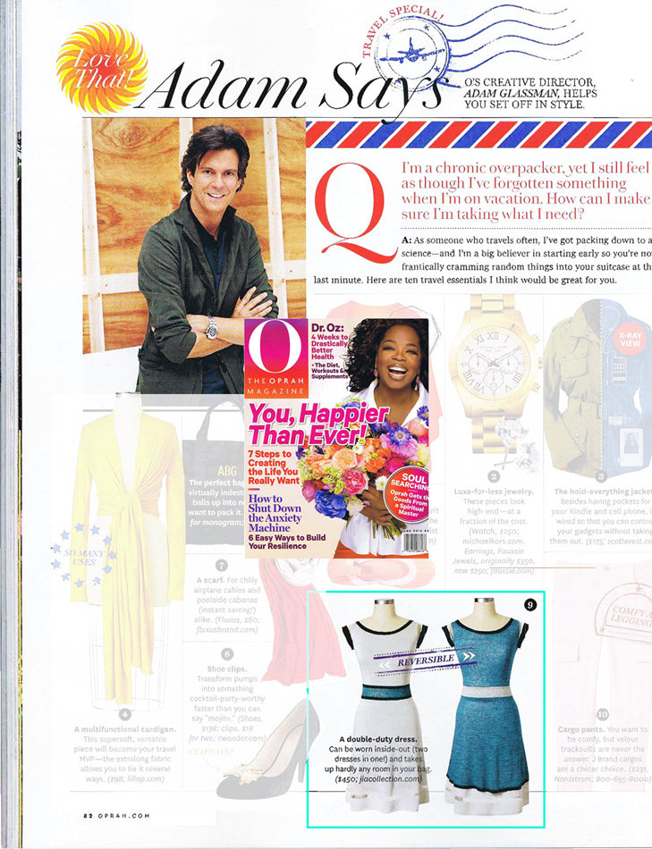 Fresh summer knit dress, the Adalina dress was featured in O Magazine