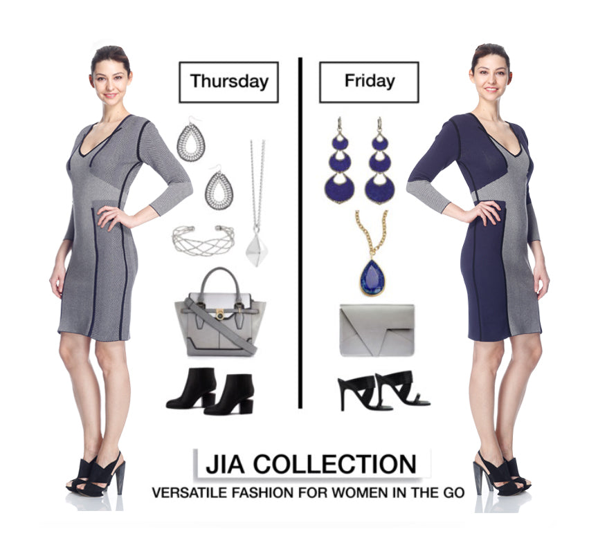 Andela reversible knit jacquard dress_Jia Collection
