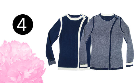 The Hedy reversible sweater with the crossover lapel is an elegant style that mom will love.