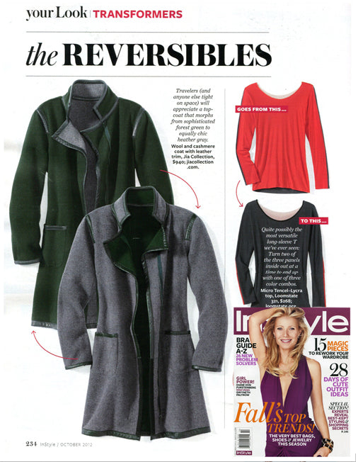 Our MARGARET reversible coat, featured in Instyle and Travel+Leisure Magazine, will give you two ways to stay cozy this fall!