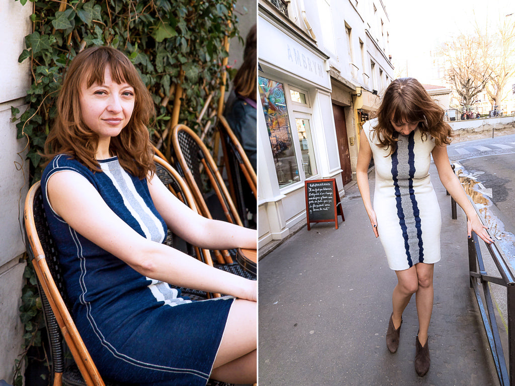 Pola Henderson looks so effortless in the reversible dress Greta that transitions easily from day to night.