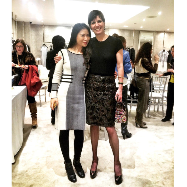 Kelly Hoey with Jia Collection designer Jia Li