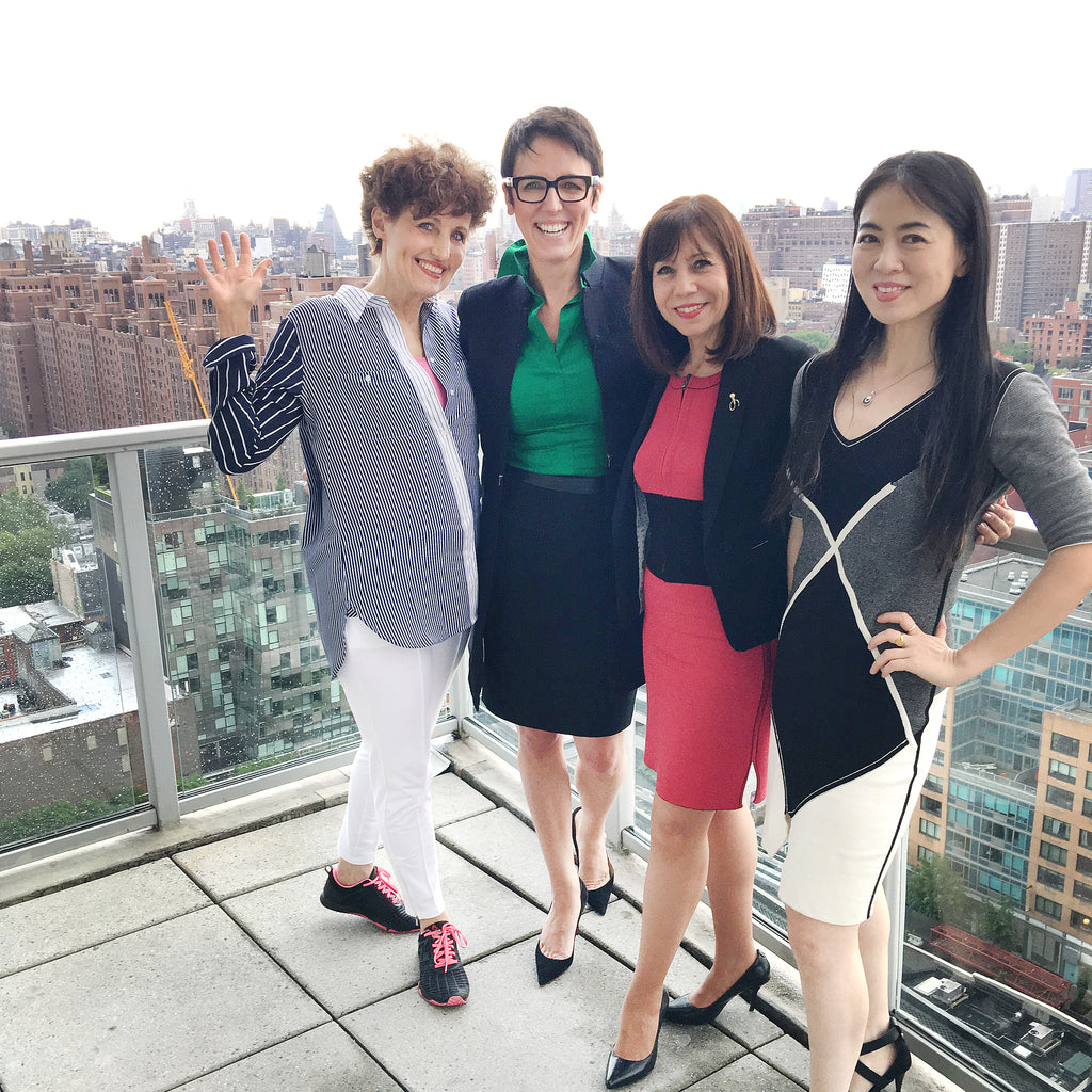 Event Organizer Dianne Devitt, Sylvie DiGiusto, Diane DiResta and Jia Li at Glasshouse, New York