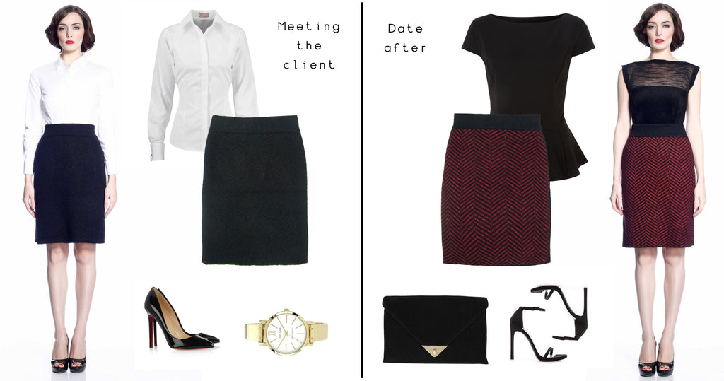 The Glenda skirt is the perfect fit. A simple skirt that can be transformed into two different styles.