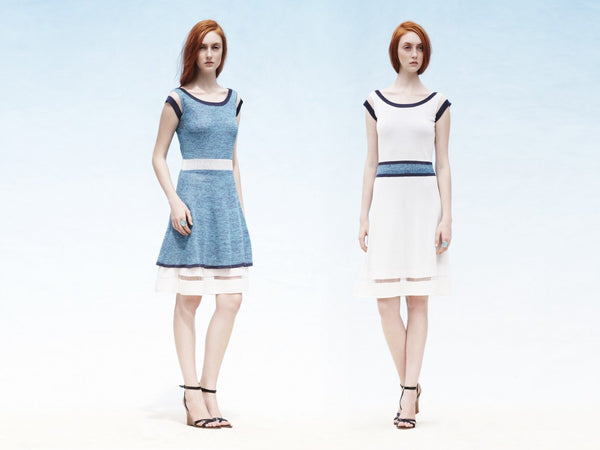 2 WAYS. Reversible 2-colorway-in-one A line dress with sheer details
