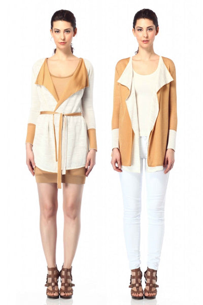 Jia Collection Reversible Perla Cardigan